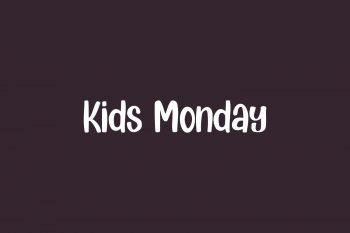 Kids Monday Free Font