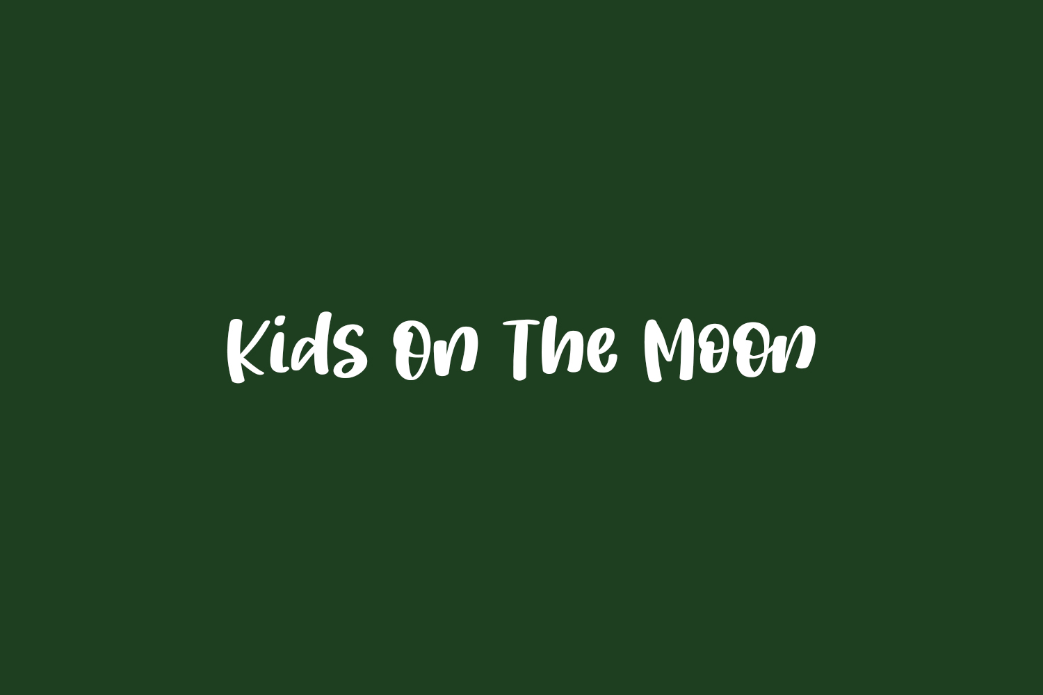 Kids On The Moon Free Font