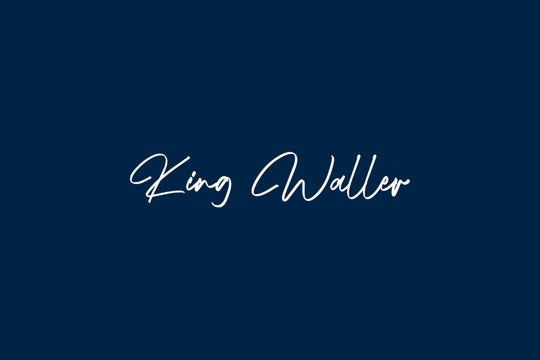 King Waller Free Font