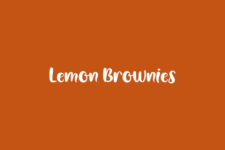 Lemon Brownies Free Font