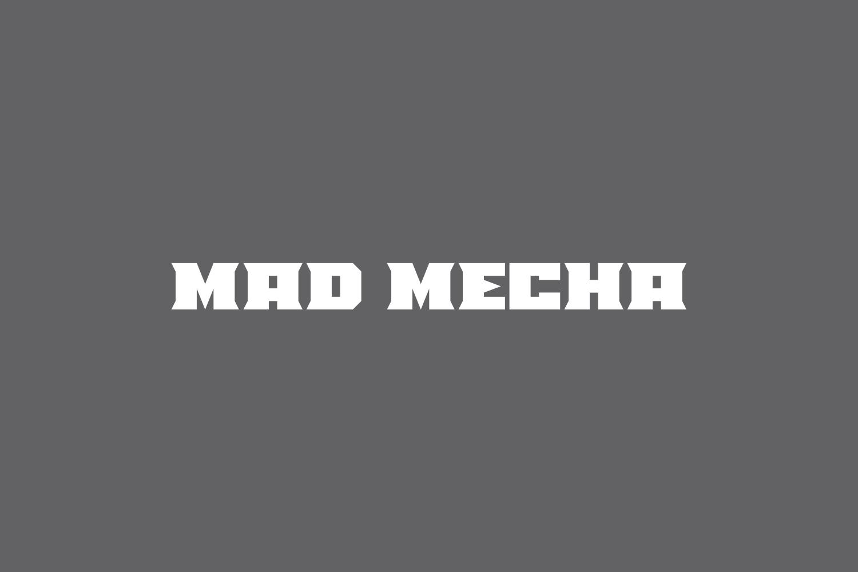 Mad Mecha Free Font