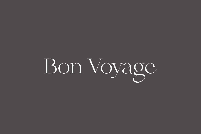 Bon Voyage Free Font