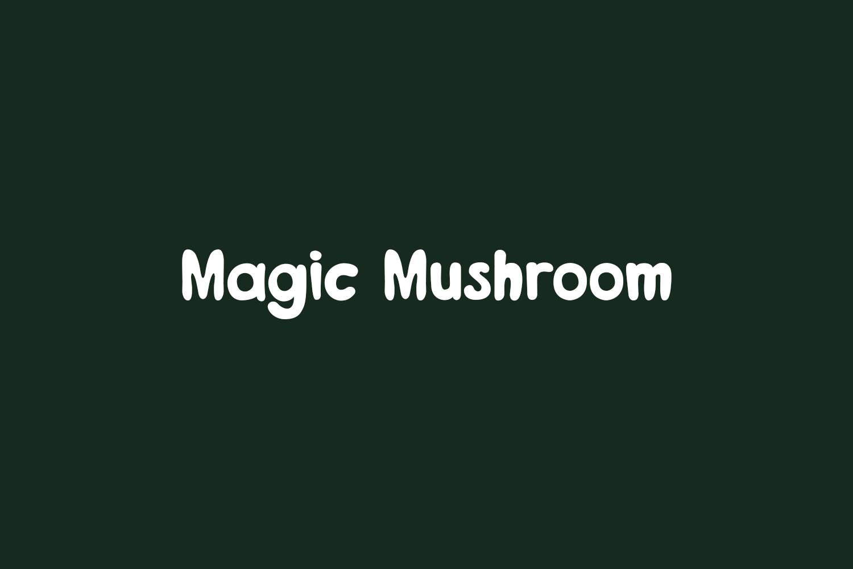 Magic Mushroom Free Font