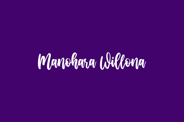 Manohara Willona Free Font
