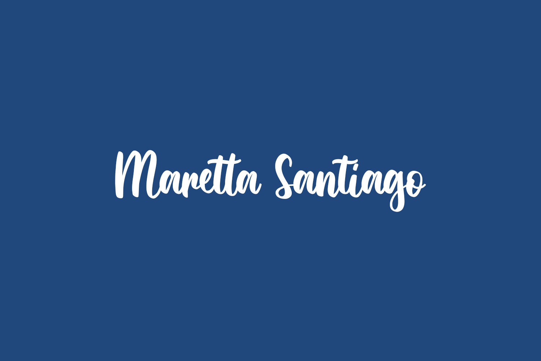 Maretta Santiago Free Font
