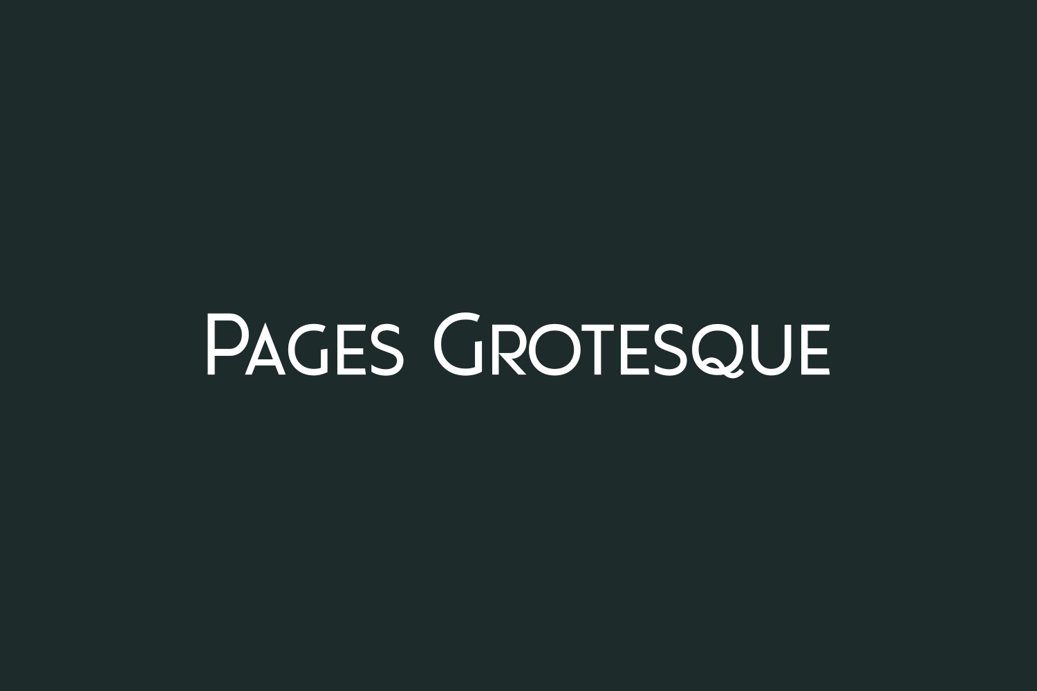 Pages Grotesque Free Font