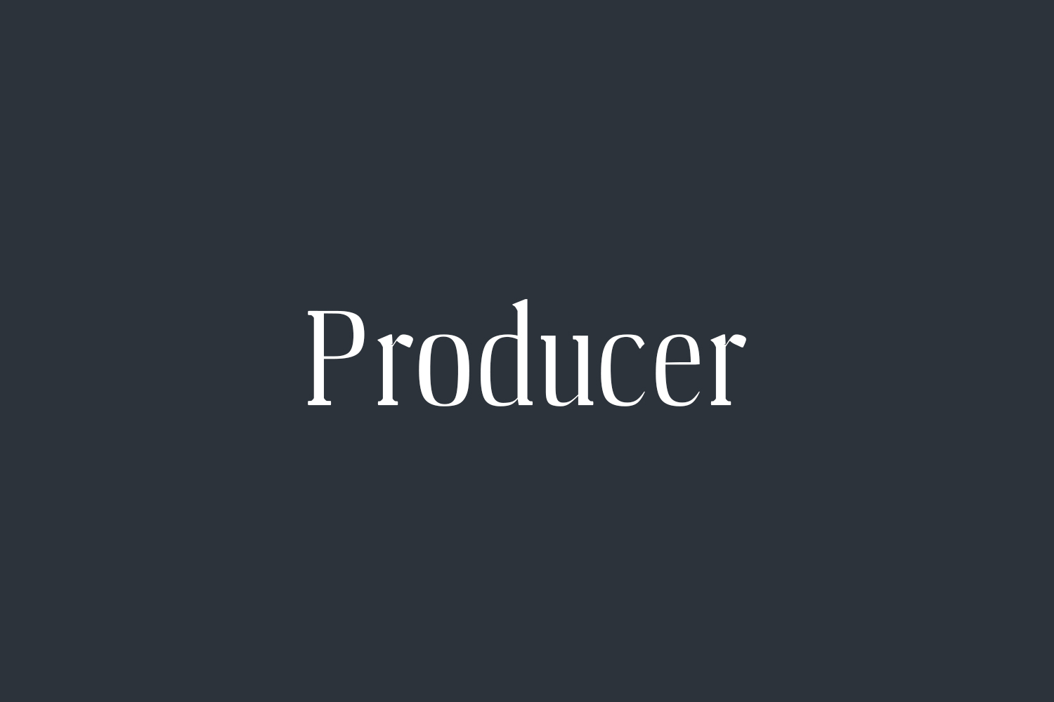 Producer Free Font