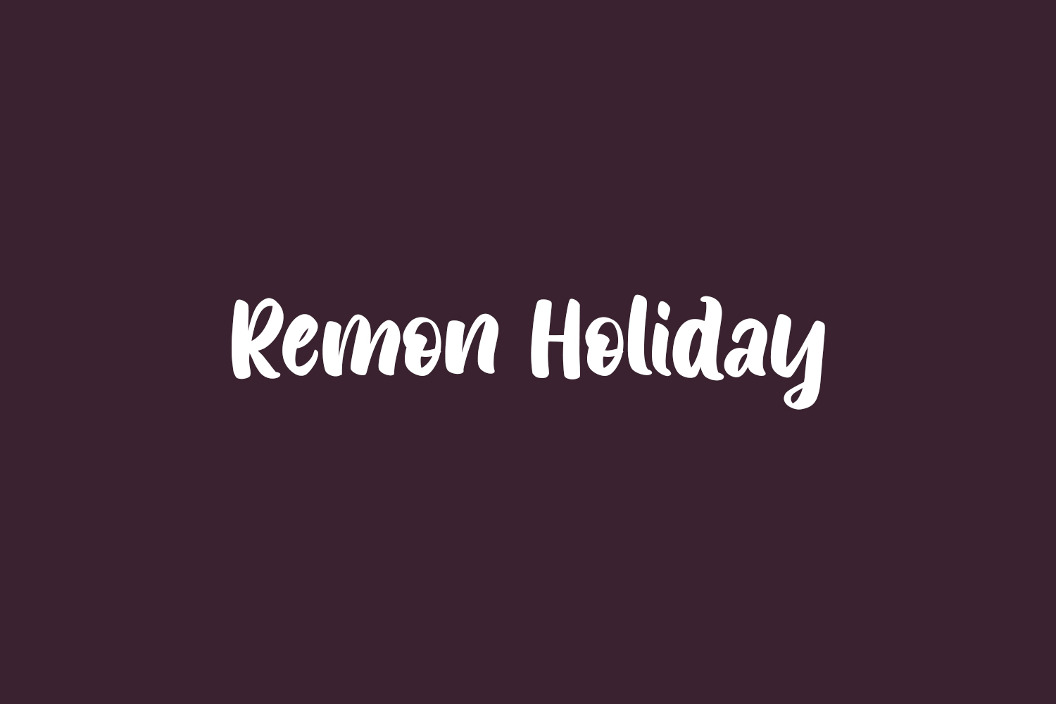 Remon Holiday Free Font