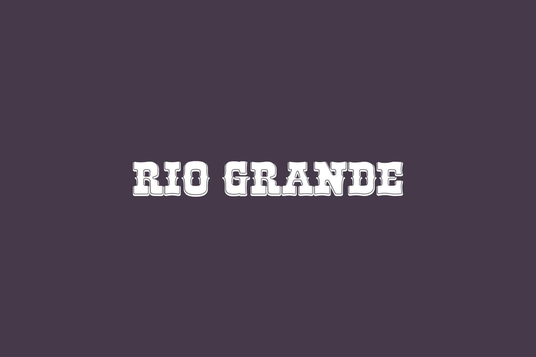 Rio Grande Free Font