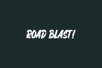 Road Blast! Free Font