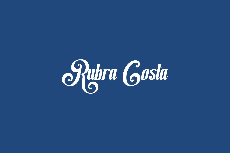 Rubra Costa Free Font
