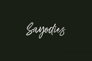 Sayodies Free Font