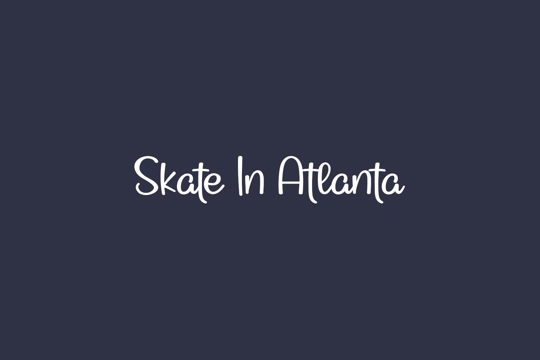 Skate In Atlanta Free Font