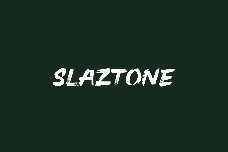 Slaztone Free Font