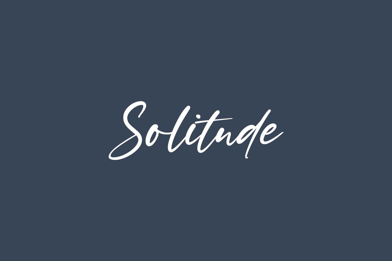Solitude Free Font