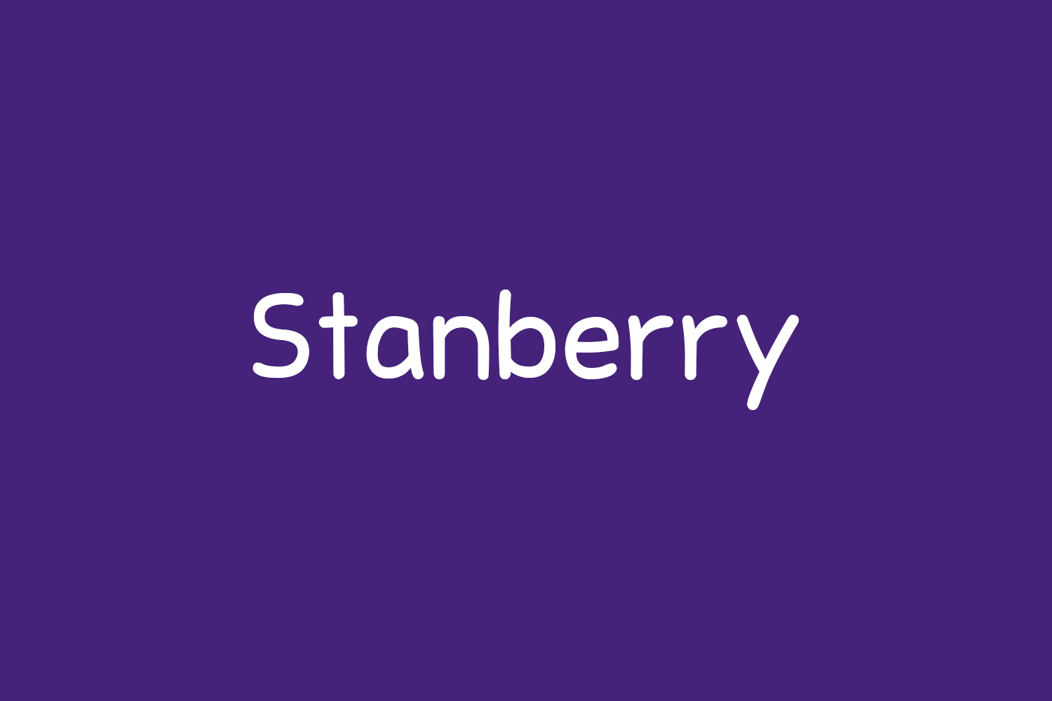 Stanberry Free Font