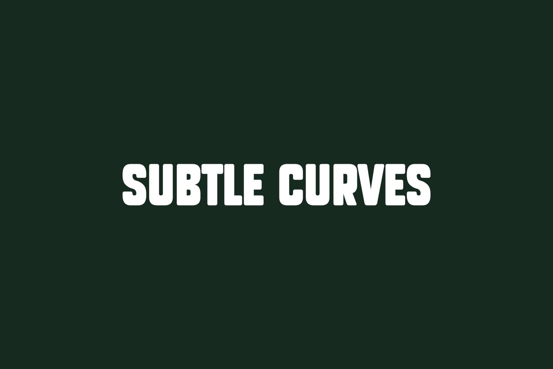 Subtle Curves Free Font