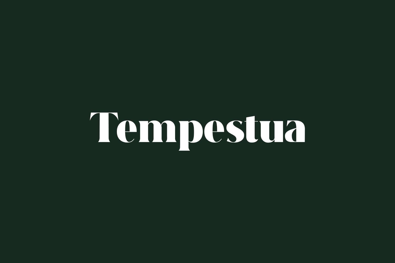 Tempestua Free Font