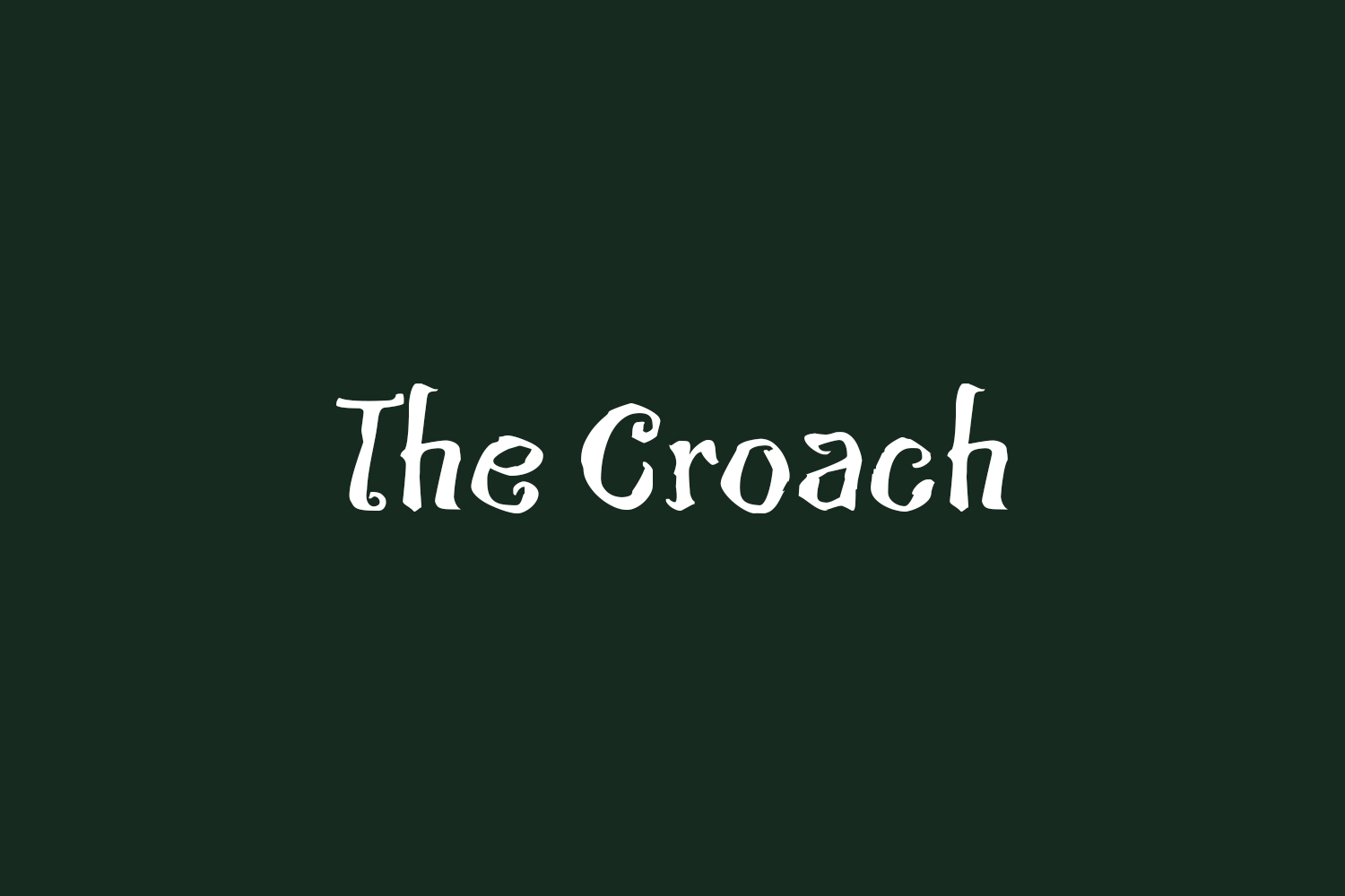 The Croach Free Font