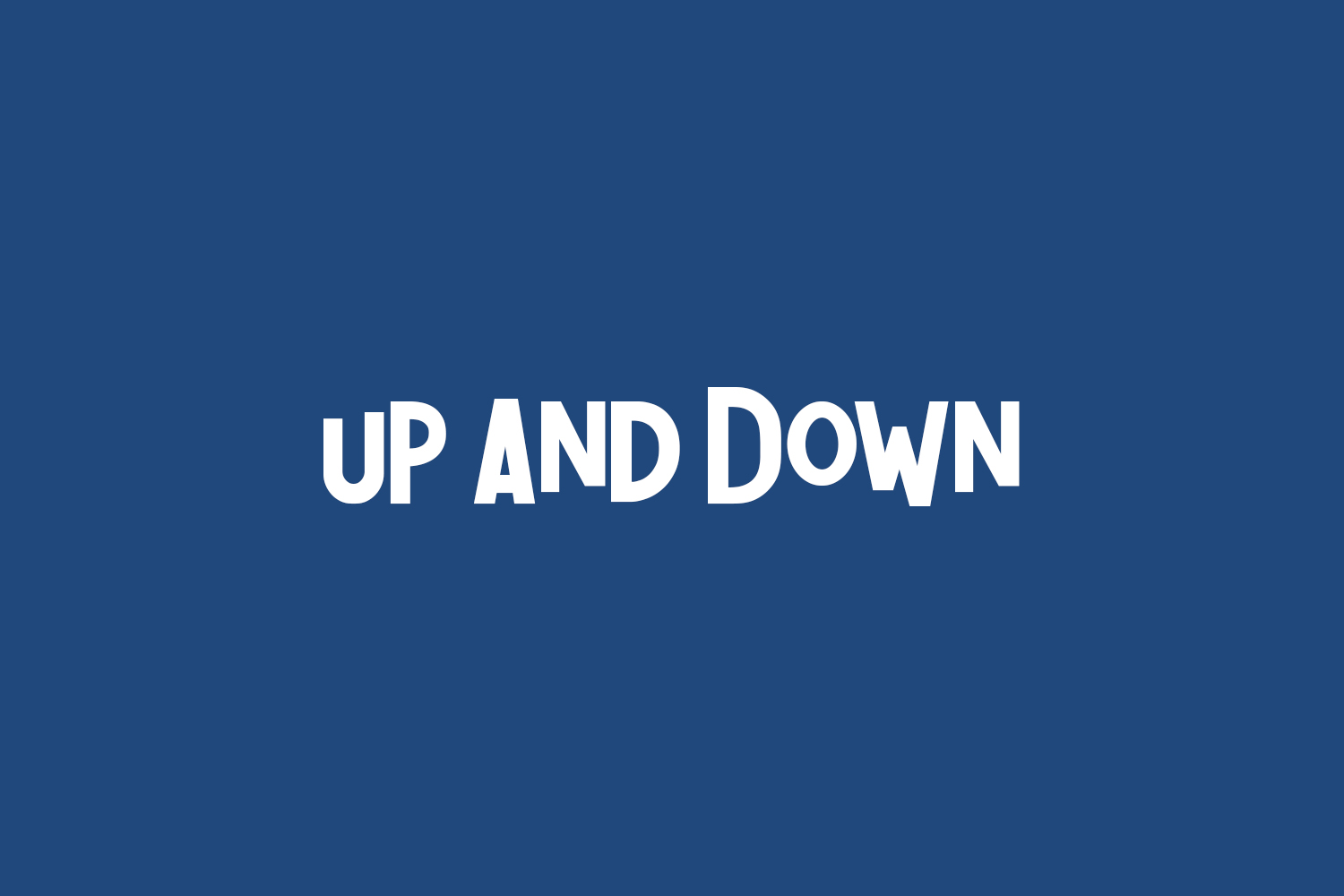 Up And Down Free Font
