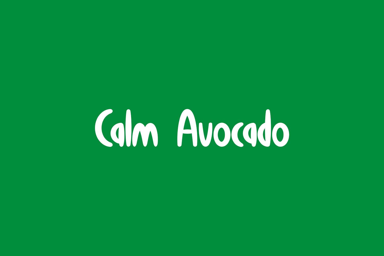 Calm Avocado Free Font