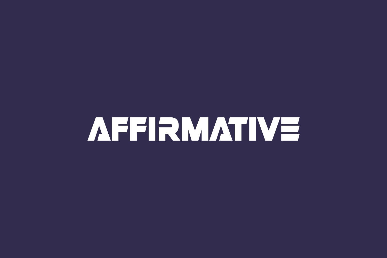 Affirmative Free Font