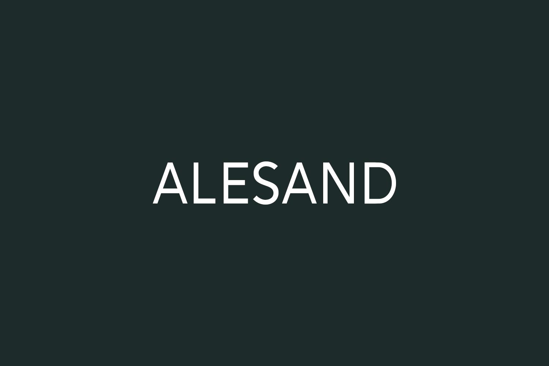 Alesand Free Font