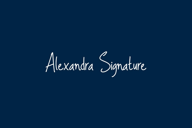 Alexandra Signature Free Font