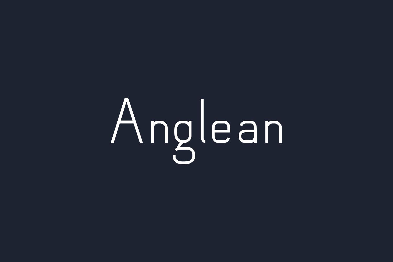 Anglean Free Font