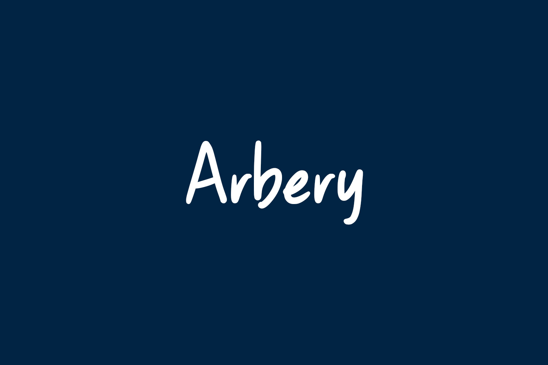 Arbery Free Font