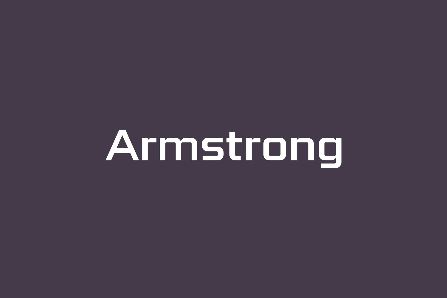 Armstrong Free Font