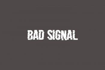 Bad Signal Free Font