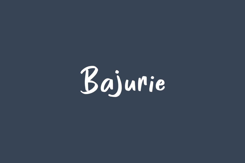 Bajurie Free Font