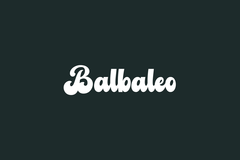 Balbaleo Free Font