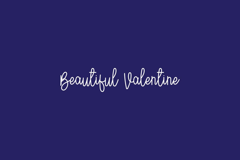 Beautiful Valentine Free Font