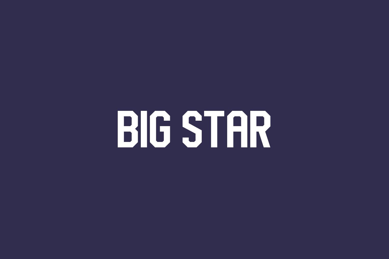 Big Star Free Font
