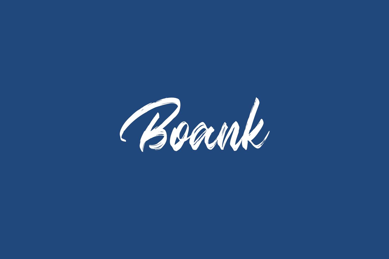 Boank Free Font