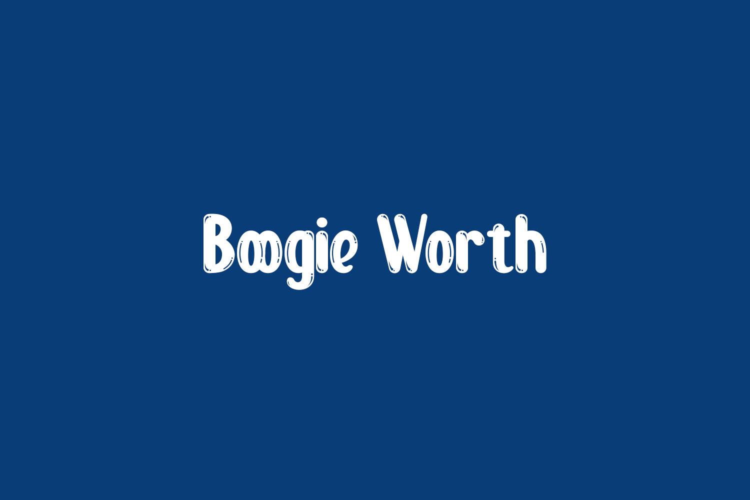 Boogie Worth Free Font