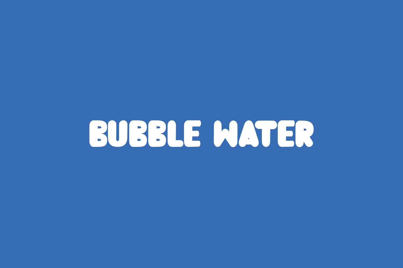 Bubble Water Free Font