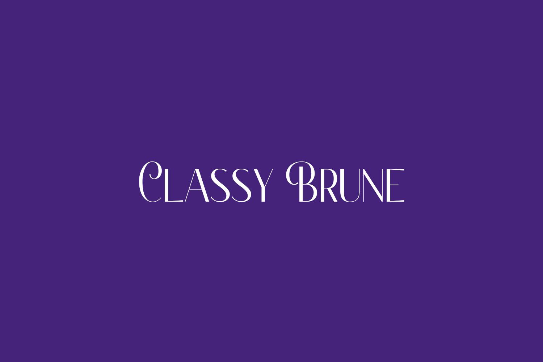 Classy Brune Free Font