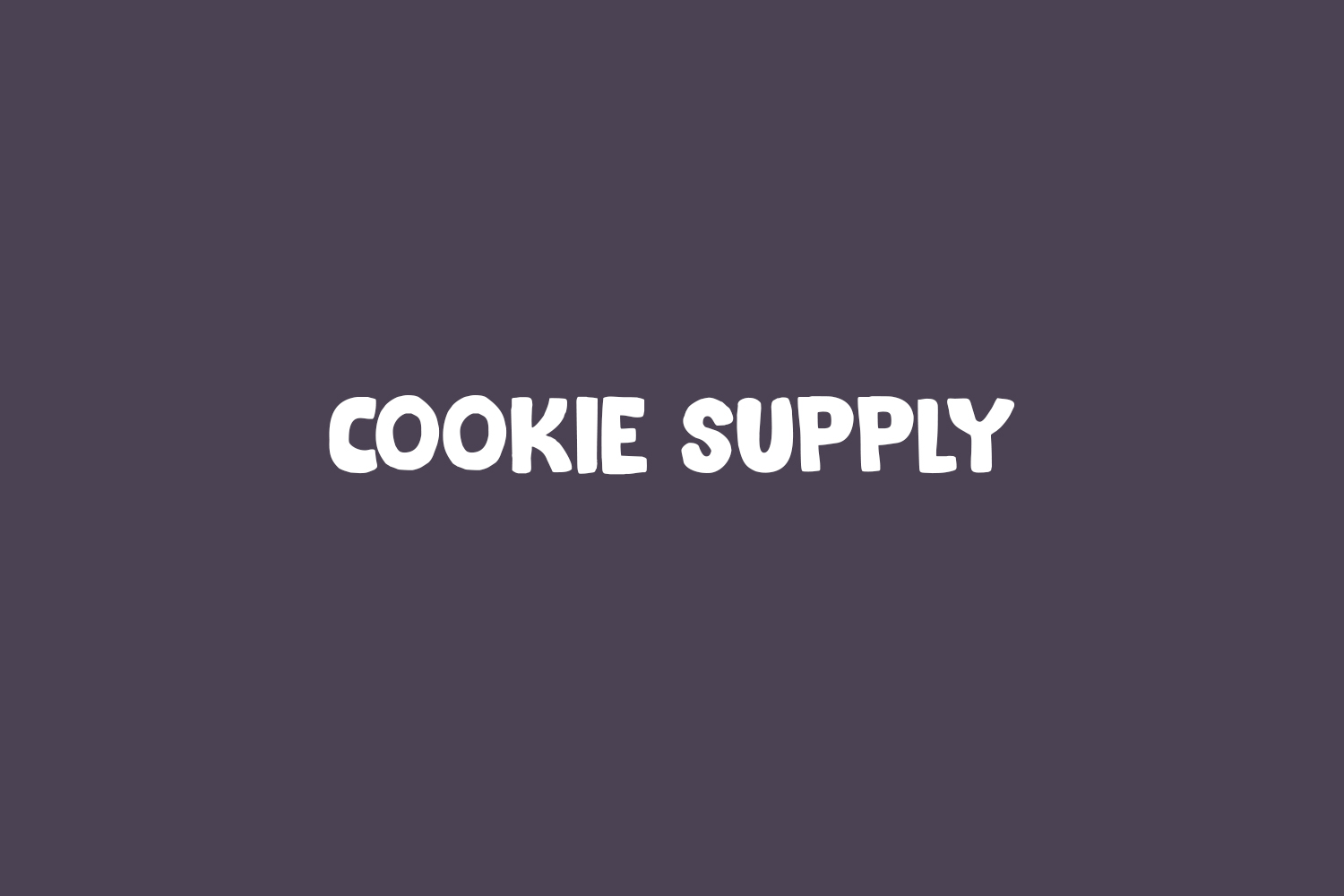 Cookie Supply Free Font