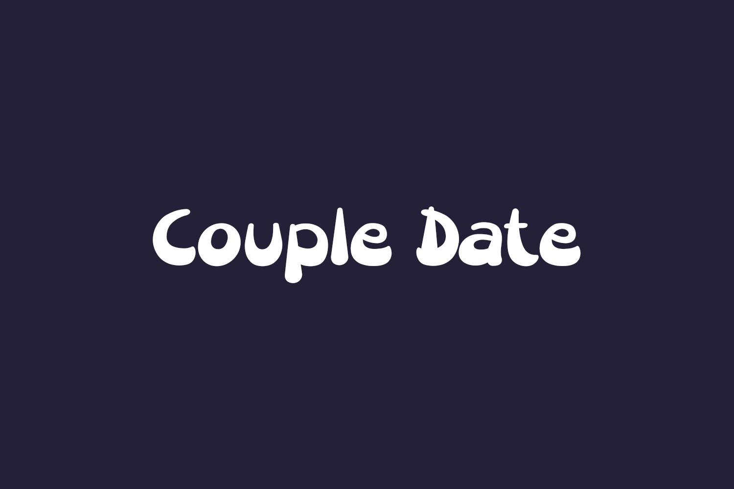 Couple Date Free Font
