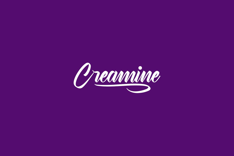 Creamine Free Font