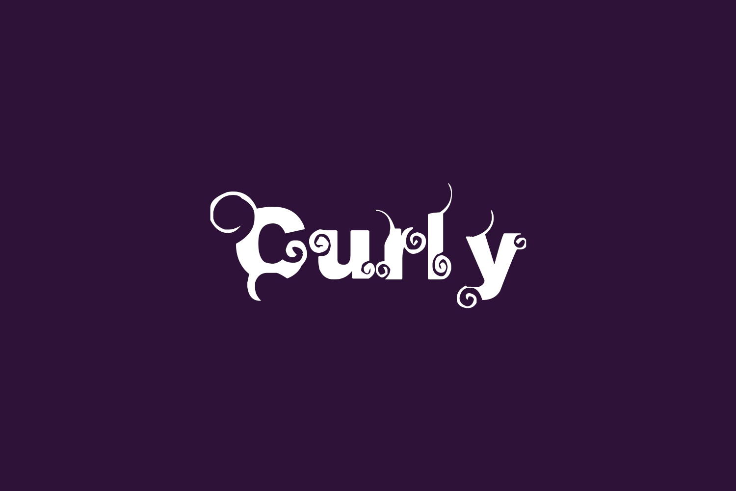 Curly Free Font