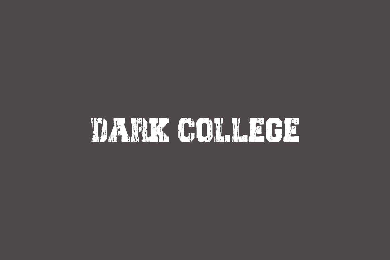 Dark College Free Font