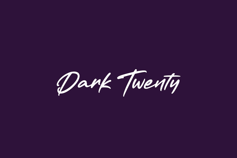 Dark Twenty Free Font