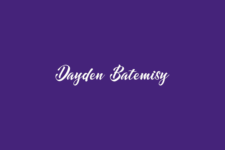 Dayden Batemisy Free Font