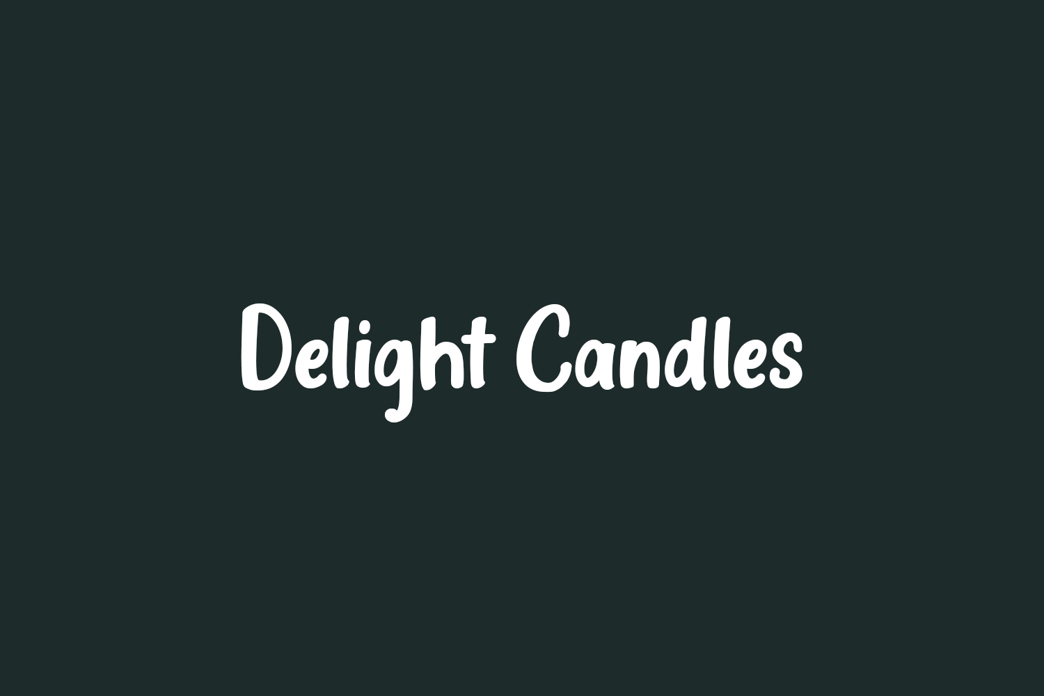 Delight Candles Free Font