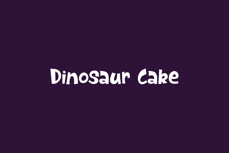 Dinosaur Cake Free Font