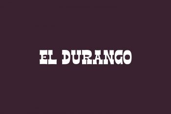 El Durango Free Font